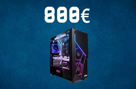 PC Gamer 800€ – Config PC complète milieu de gamme