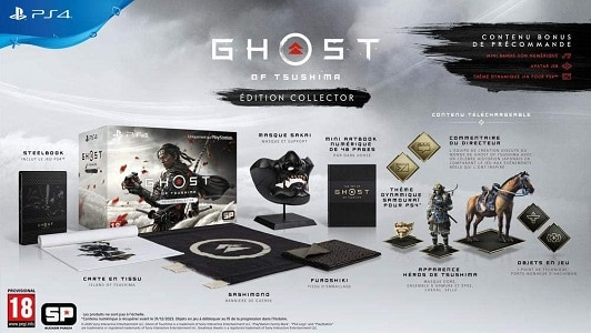 ghost of tsushima collector pas cher
