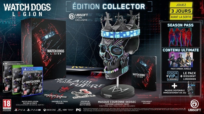 watch dogs legion collector pas cher